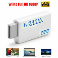Portable Wii to HDMI Wii2HDMI Full HD Converter Audio Output Adapter TV USA
