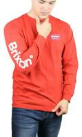 Brixton Mens Palmer SV L/S T-Shirt Cayenne M New