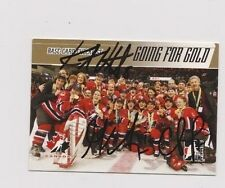 ITG Team Canada Women's Hockey Going For The Gold Checklist Card Signed by 3 B