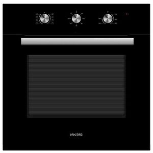 electriQ 65L 8 Function Plug In Fan Assisted Electric Single Oven - Black