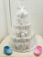 3 Tier Undecorated Diaper Cake Baby Shower Centerpiece Boy Girl Unisex- U Decor8