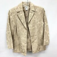 CHICO'S Women's Elegant Beige 3/4 Sleeve Jacket Size 0