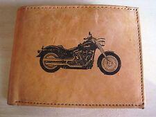 Mankind Wallets-Mens Leather RFID Billfold-FREE Harley Davidson Motorcycle Image
