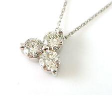Chain Round SI2 Fine Diamond Necklaces & Pendants