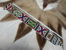 RARE BEAUTIFUL Ndebele Nyoga Beaded Wedding Bridal Veil South Africa #105