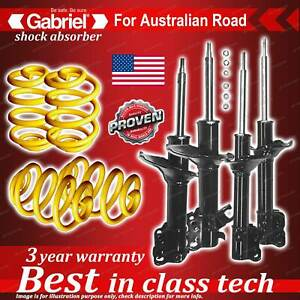 4 x lowered Gabriel Shock + Coil Spring for Nissan Bluebird U13 Sedan 10/93-97