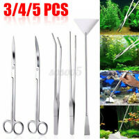 3/4/5 Pcs Aquarium Live Plant Aquascaping Scissor Tweezers Trimming Tool Trim ∫