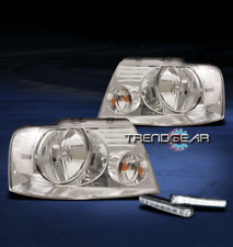 2004-2008 FORD F-150 PICKUP CRYSTAL HEAD LIGHT+LED DRL KIT SIGNAL 2005 2006 2007