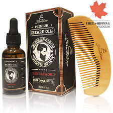 Naturals Sandalwood Beard Oil Kit - All Natural Beard and Mustache Conditione...