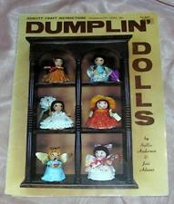 How To Make 30 Diff Dolls 1980 Vtg Dumplin Dolls Craft Booklet Anderson, Adams