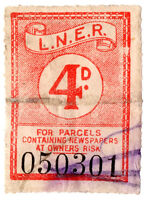 (I.B) London & North Eastern Railway : Newspaper Parcel Stamp 4d