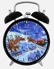 "Christmas Eve Alarm Desk Clock 3.75"" Home or Office Decor W348 Nice For Gift"
