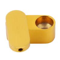 Portable Metal Smoke Pipe Mobile Rotation Smoking Herb Storage Box Grinder Gold