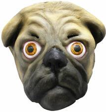 FUNNY PUG DOG LATEX FACE MASK ANIMAL CHARACTER PLAY HALLOWEEN FUN