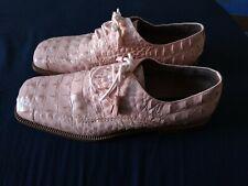vintage Giorgio Brutini private collection 10&1/2 m alligator print  salmon pink