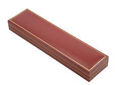 50 X rojo clásico de piel sintética bracelet/watch Cajas