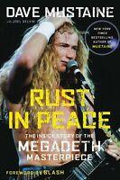 Rust In Peace SIGNIERT SIGNED DAVE MUSTAINE BOOK Megadeth Wacken Metallica Slash