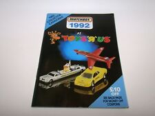Matchbox Superfast 1992 Catalogue Toys R Us - No Graffiti - Near Mint