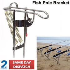 Automatic Stainless Steel Double Spring Tip-up Hook Fishing Rod Pole Bracket UK