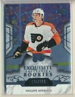 2019-20 Exquisite Rookies R19 Philippe Myers Philadelphia Flyers /399
