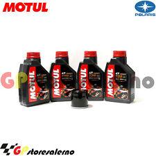 TAGLIANDO OLIO + FILTRO MOTUL 7100 10W30 POLARIS 455 DIESEL EBS 4x4 2001