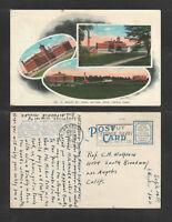 1942 MOUNT ST JOHN DAYTON OHIO TRIPLE VIEW POSTCARD