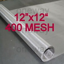 "WOVEN WIRE MESH STAINLESS STEEL 400 MESH 12""X12"" FILTRATION SS T316 US SHIP"