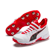2020 Puma 19.1 Mid Bowling White Black Red Cricket Shoes Size UK 8 - 12