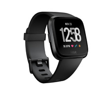 BRAND NEW!!! Fitbit Versa Smartwatch - Black Aluminum Frame with Black band