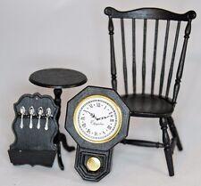 Chrysnbon Duxbury Chair Dollhouse Miniature Kit, Black #2102BK