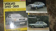 VOLVO 340-360  HANDBOOKS & MANUAL AGE WORN BUT STILL GOOD CONDITION