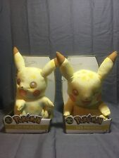 "NEW Pokemon 20th Anniversary Pikachu & Winking Pikachu 10"" Plush BUNDLE LOT"