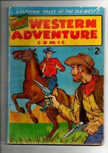 GIANT ADVENTURE WESTERN COMIC     No 6  1950s  .SILVER   AGE AUST COMICS FINE