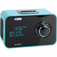 Acoustic Solutions Alarm Clock DAB Radio iPod iPhone Dock Docking Green - New