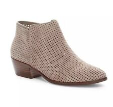Sam Edelman Women's Pipp Putty Perforated Suede Bootie 7521 Size 9M