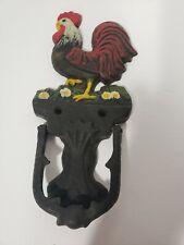 Antique Look Cast Iron Rooster Door Knocker Black Country Home Decor