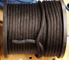 "Nylon Black 3/8"" Cut By Foot $0.49 / ft. Braided Anchor Rope Dock Line BLACK"