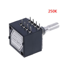1Pc potentiometer 250K log alps audio amp volume control pot stereo w loudnessHv
