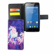 Schutz Hülle für Handy ZTE Blade L3 Einhorn Magic Tasche Case Wallet Cover Neu