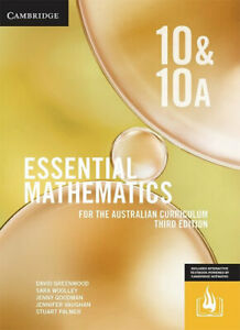 NEW Essential Mathematics for the Australian Curriculum Year 10 By David Greenwo
