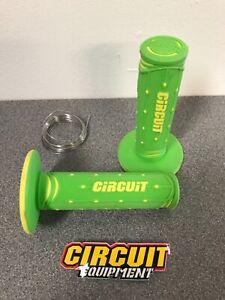 Circuit Jupiter MX Motocross Enduro Handlebar Grips Green Yellow KX KXF