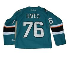 Autographed Signed SAN JOSE SHARKS NHL JERSEY Eriah Hayes #76 - Youth S/M Hockey