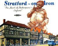 Stratford auf Avon 4 Shakespeare's England Railway Vintage alt Bild Poster