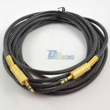 10ft Ofc 3.5mm Stereo plug male to male Gold Audio Ipod Aux Mp3 Cable cord
