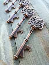 """Large Skeleton Key BOTTLE OPENER Antiqued Copper Rustic Wedding Favor 1 Key 3"""""""