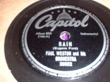 78RPM 2 Capitol by Paul Weston, Rain,Dont Blame Me,If I Love Again,U Came Al E-