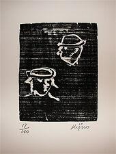 Ladislas Kijno Gravure sur bois originale signée Art Abstrait Abstraction Nice