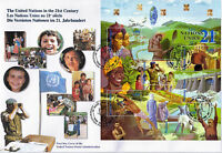 UNITED NATIONS 2000 UN IN THE 21st CENTURY O/S FIRST DAY COVER GENEVA SHS