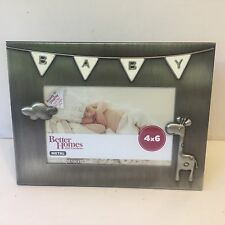 Better Homes and Gardens 4 x 6 Metal Baby Themed Picture Frame Silver