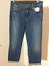 Level 99 Brand Lilly Rolled Crop Jean In Mid Wash